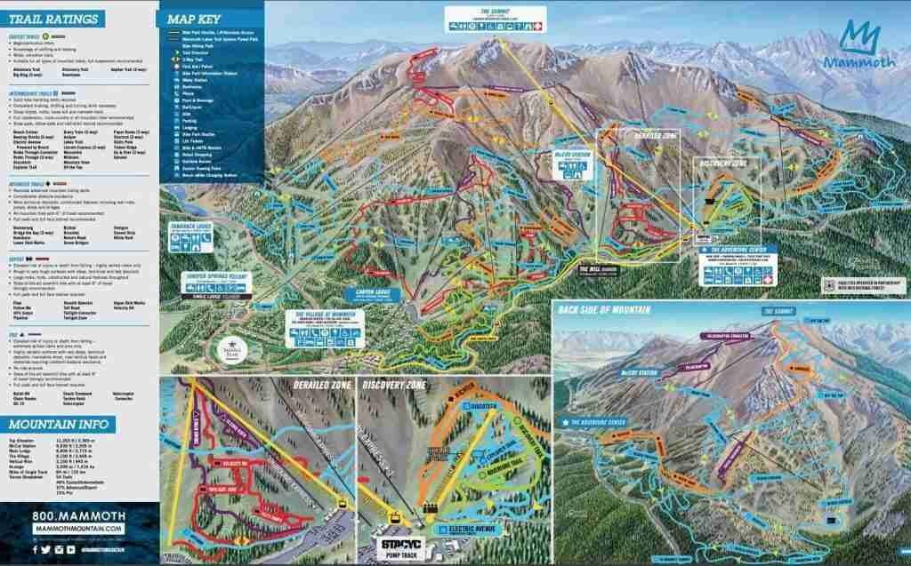 Mammoth Mountain Bike Park Map // Mammoth Mountain Bike Park is one of the best bike parks in the US with over 80 miles of trail and epic views. Start planning your next trip!