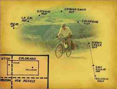 San Juan Huts Telluride To Moab Map // Learn everything you need to know about the San Juan Hut System Telluride To Moab mountain bike ride in this complete planning guide.