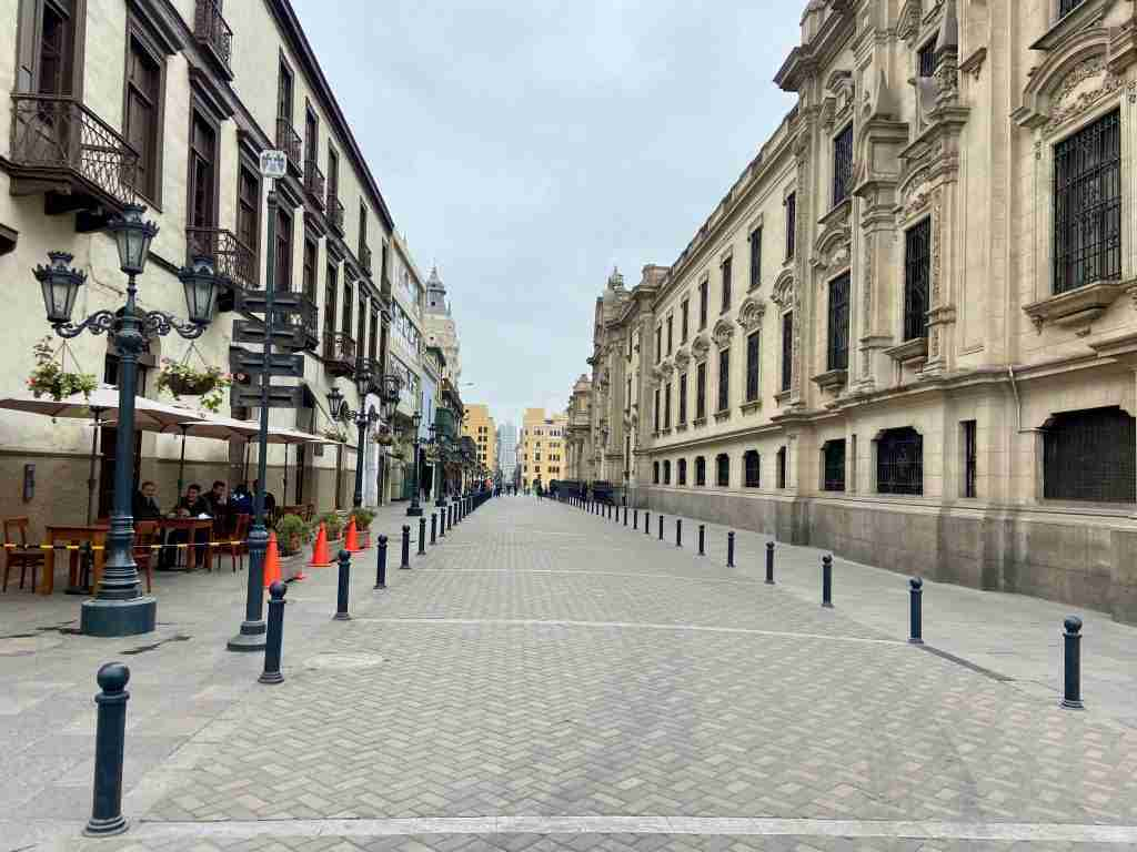 Palacio de Gobierno // Want to explore Lima, Peru on two wheels? Check out my Lima bike tour experience including sites we visited, what to expect, and more.